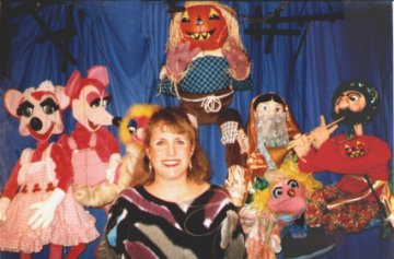 Susan and some of her puppets